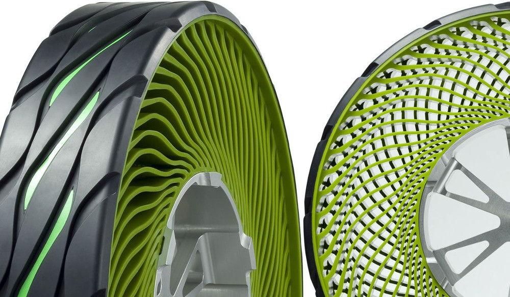 Бескамерные безвоздушные шины Bridgestone