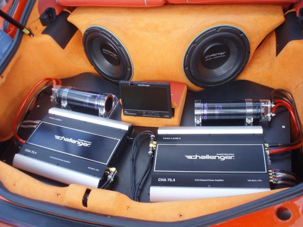Сабвуферы в багажнике авто