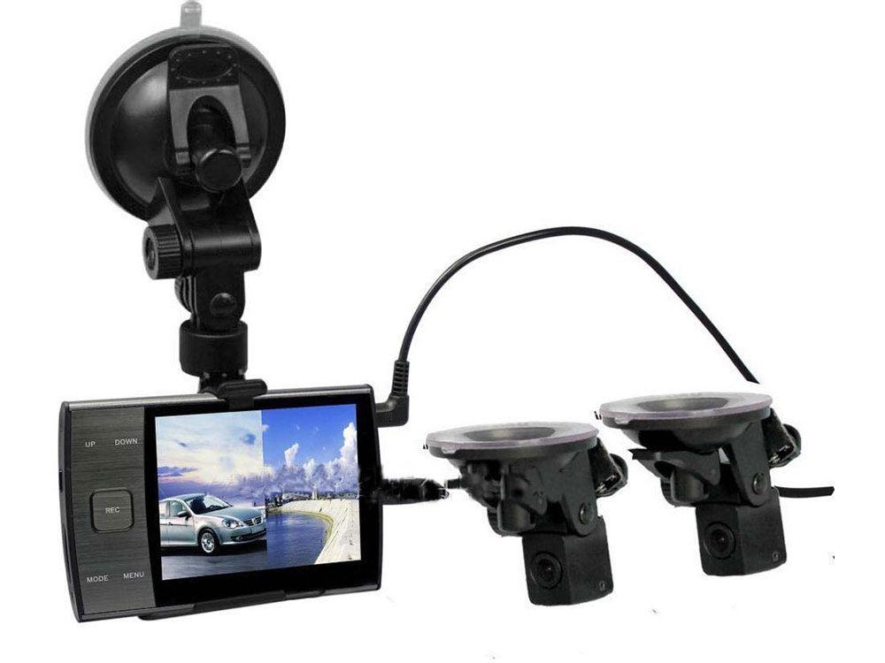 Видеорегистратор с двумя выносными камерами