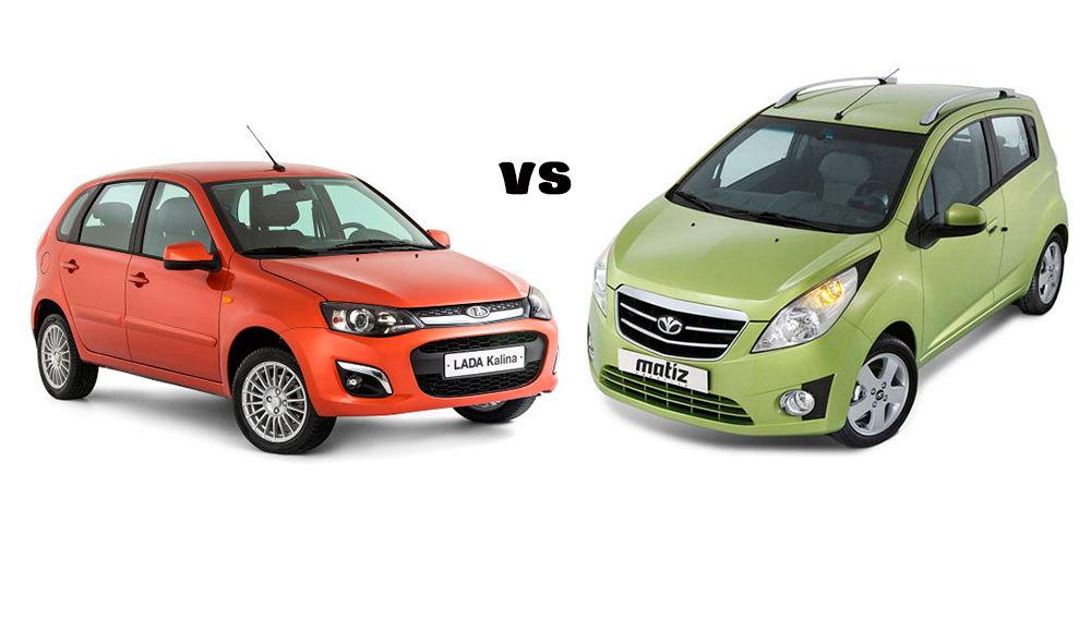 Какой автомобиль выбрать: Daewoo Matiz или Lada Kalina