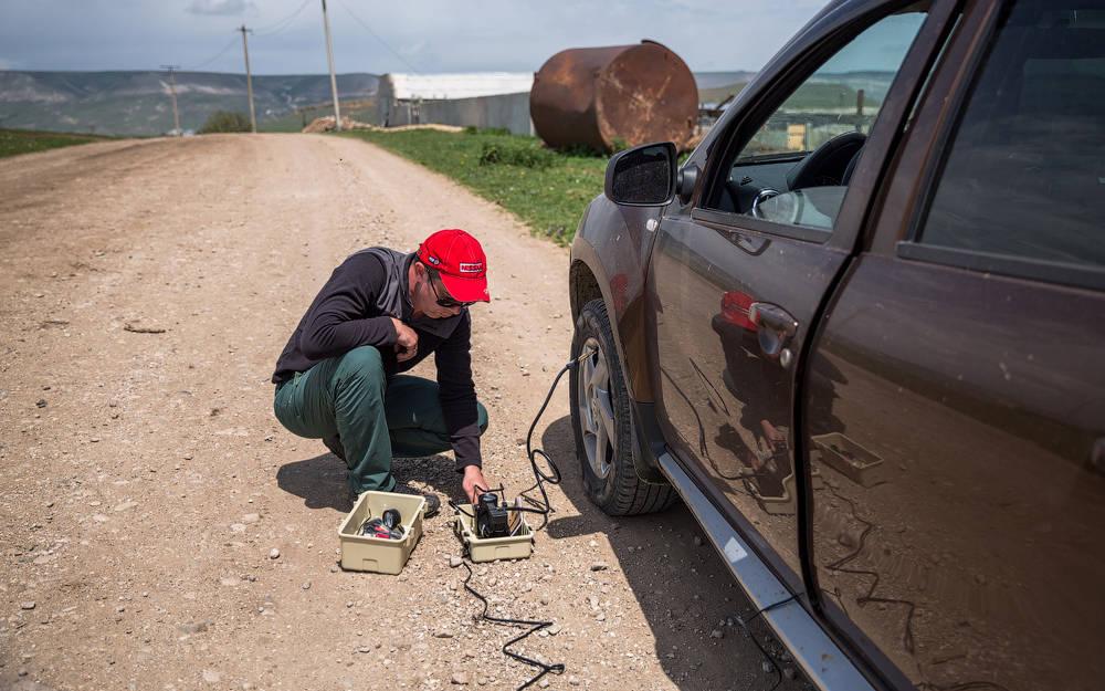 Использование автомобильного компрессора