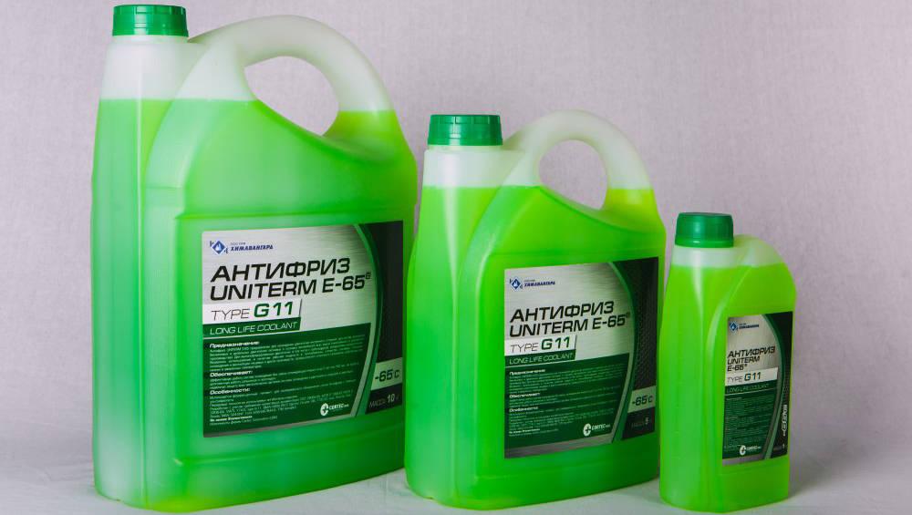 Антифриз зелёного цвета