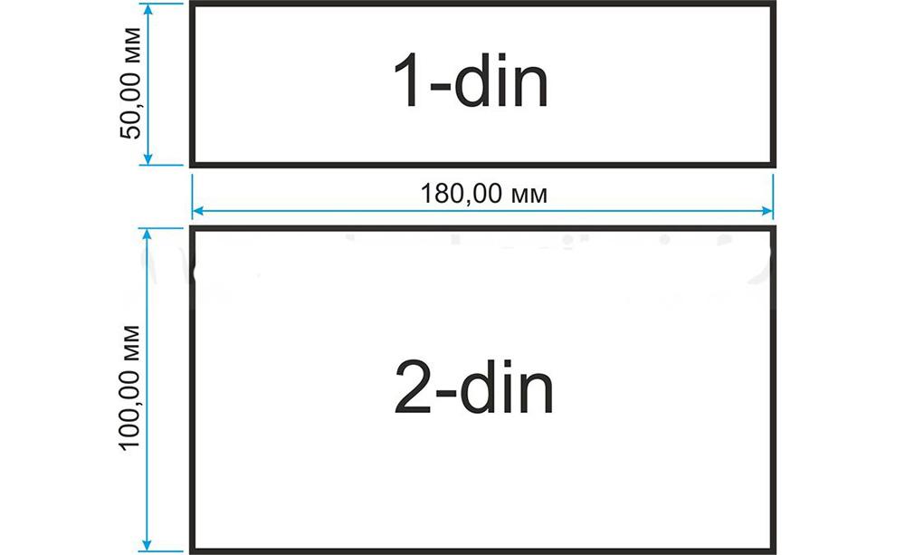 Сравнение1 DIN и 2 DIN