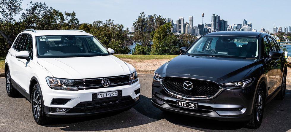 Volkswagen Tiguan и Mazda CX-5