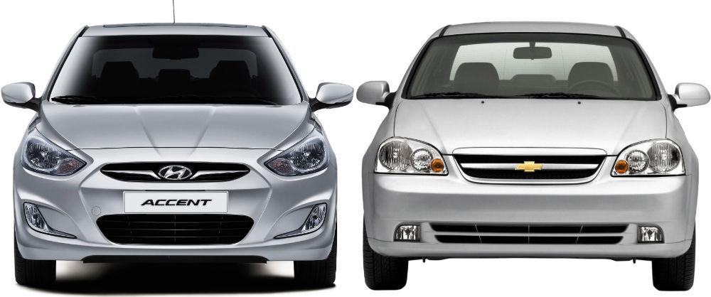 Hyundai Accent и Chevrolet Lacetti