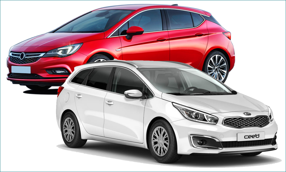 Opel Astra и Kia Ceed