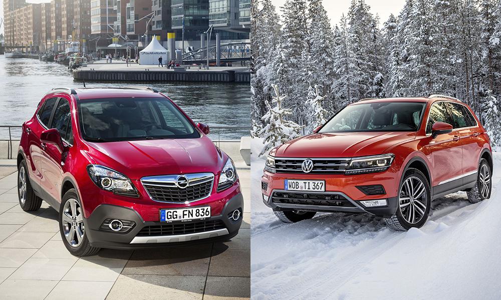 Сравнение Opel Mokka и Volkswagen Tiguan