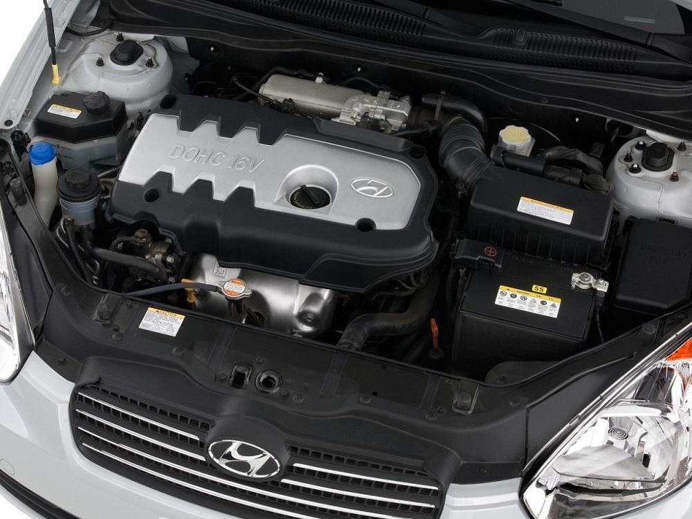 Hyundai Accent под капотом