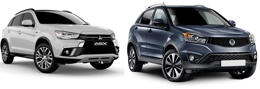 Автомобили SsangYong Actyon и Mitsubishi ASX
